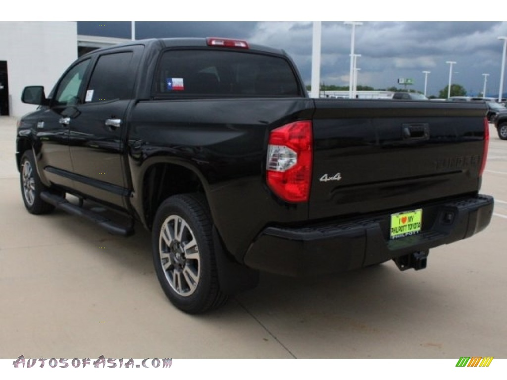 2019 Tundra Platinum CrewMax 4x4 - Midnight Black Metallic / Black photo #6