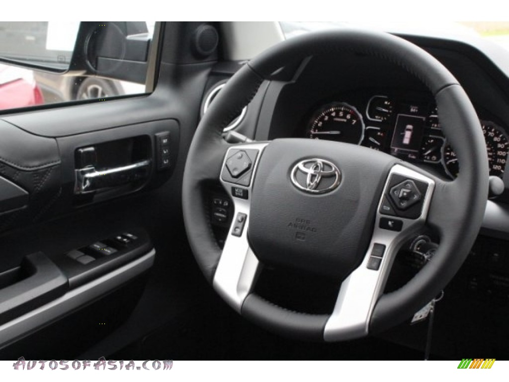 2019 Tundra Platinum CrewMax 4x4 - Midnight Black Metallic / Black photo #27