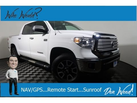 Super White 2017 Toyota Tundra Limited CrewMax 4x4