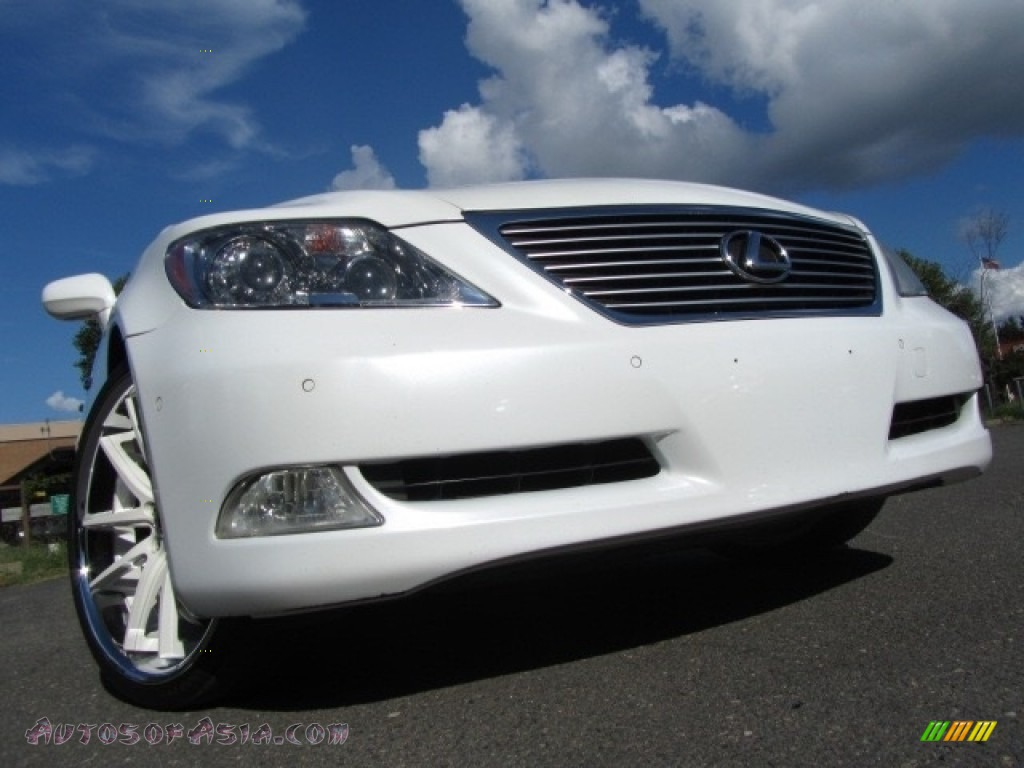 2008 LS 460 - Starfire White Pearl / Cashmere photo #1