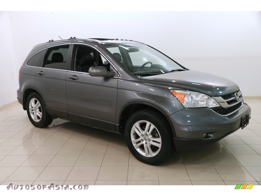 2010 CR-V EX-L AWD - Polished Metal Metallic / Black photo #1