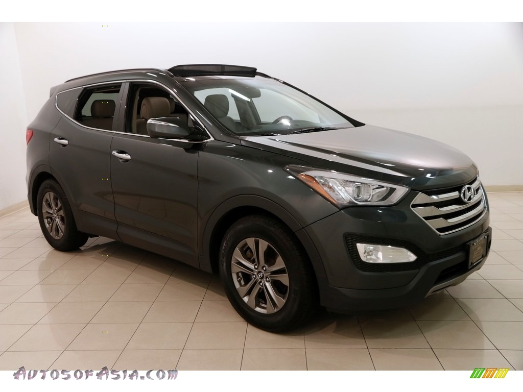 2014 Santa Fe Sport FWD - Juniper Green / Beige photo #1