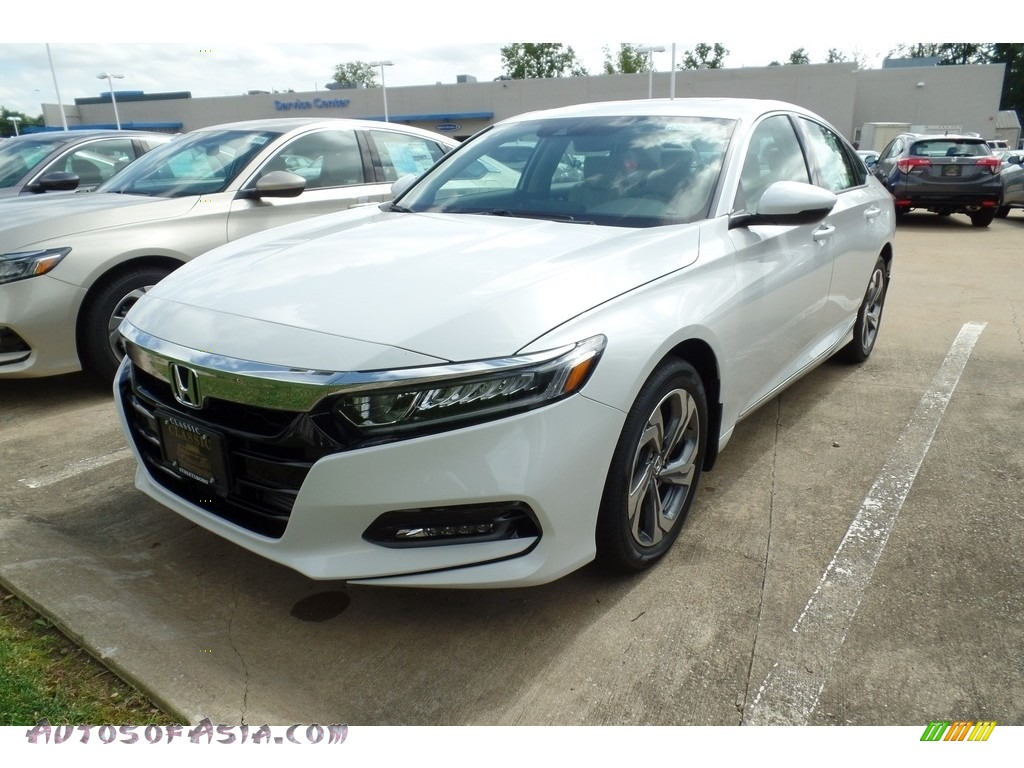 Platinum White Pearl / Ivory Honda Accord EX-L Sedan