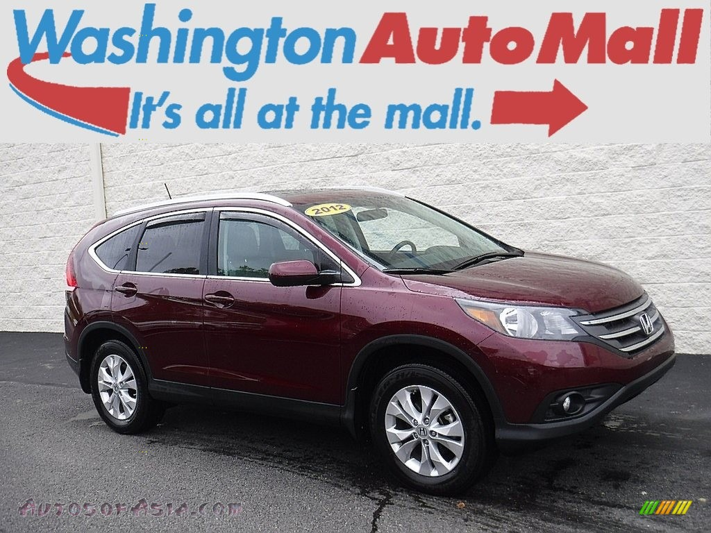 Basque Red Pearl II / Gray Honda CR-V EX-L 4WD