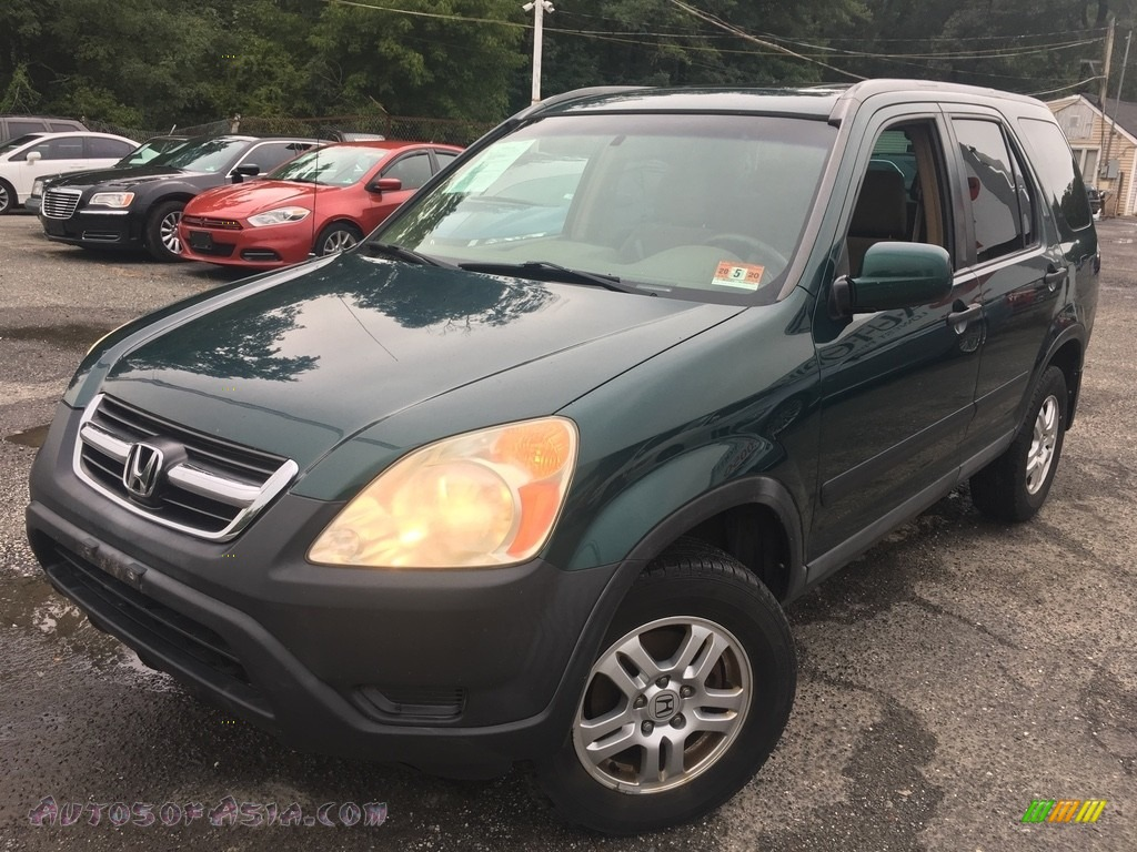 2003 CR-V EX 4WD - Clover Green Pearl / Saddle photo #1
