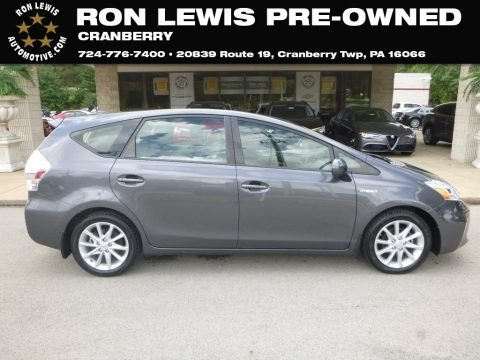Magnetic Gray Metallic 2013 Toyota Prius v Three Hybrid
