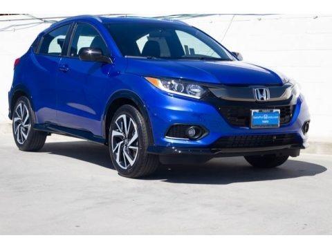 Aegean Blue Metallic 2019 Honda HR-V Sport