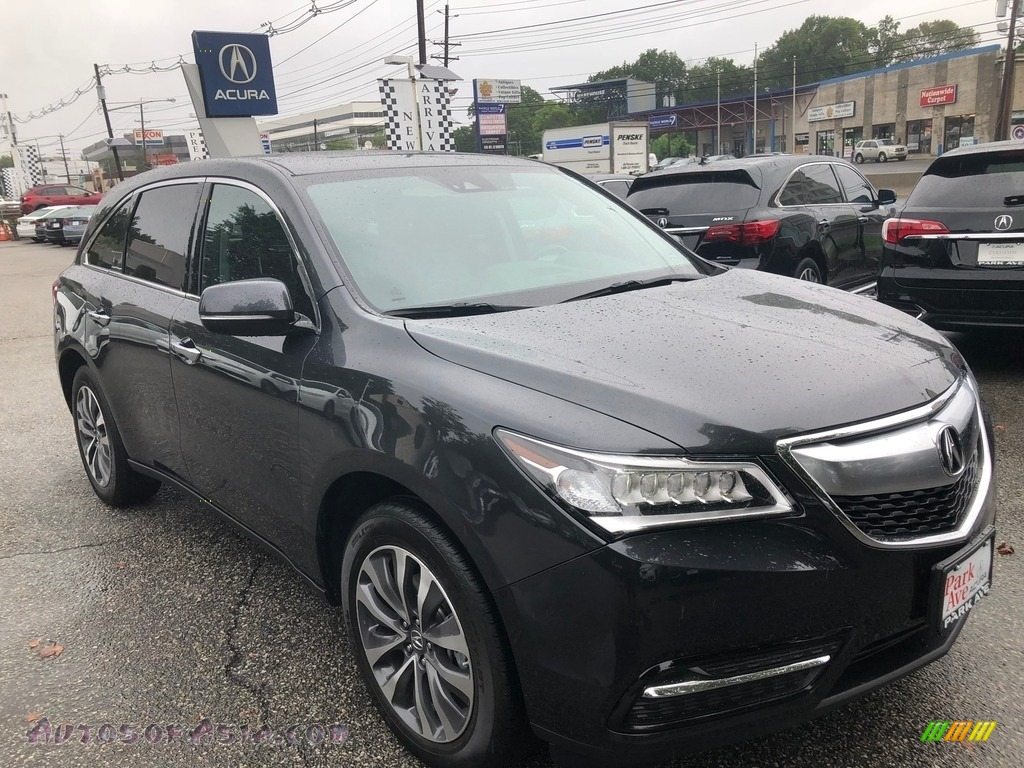 2016 MDX SH-AWD Technology - Graphite Luster Metallic / Ebony photo #1