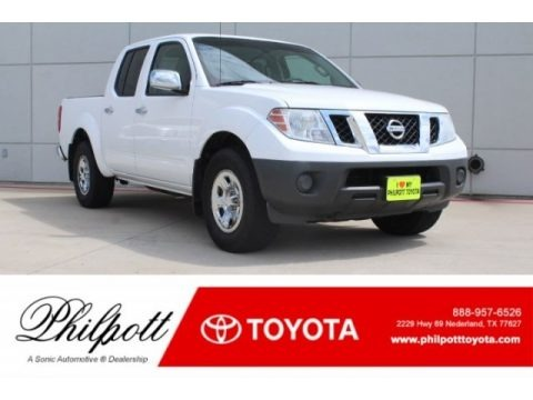 Avalanche White 2012 Nissan Frontier S Crew Cab