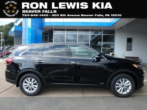 Ebony Black 2019 Kia Sorento LX V6 AWD