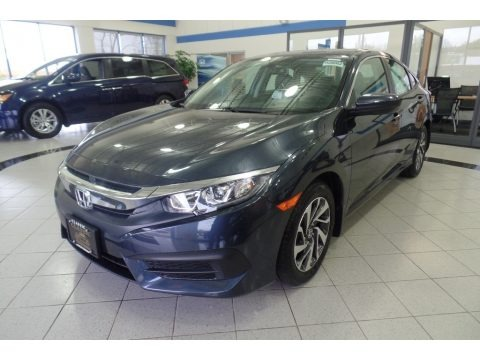 Cosmic Blue Metallic 2018 Honda Civic EX Sedan