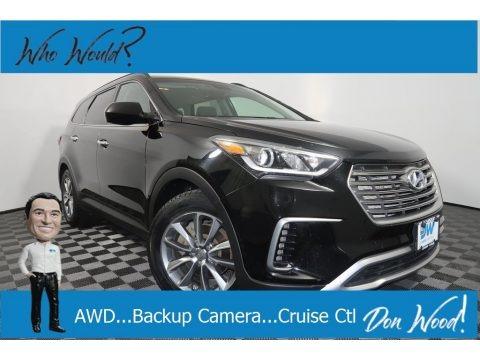 Becketts Black 2017 Hyundai Santa Fe SE AWD