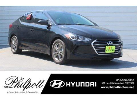 Phantom Black 2018 Hyundai Elantra SEL