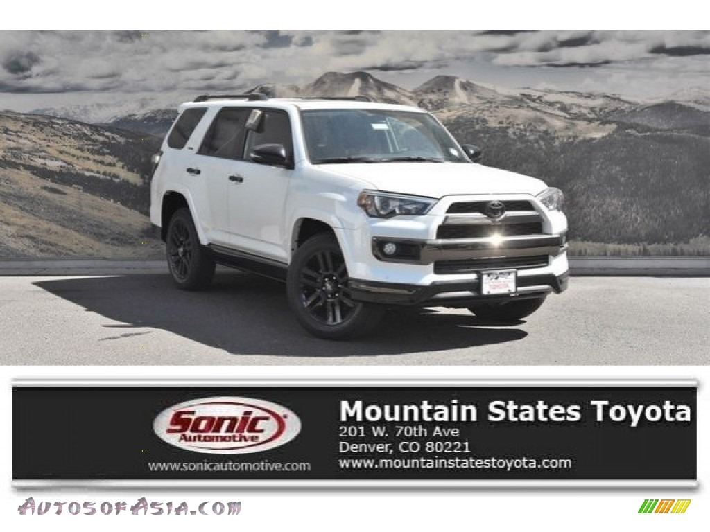 2019 4Runner Nightshade Edition 4x4 - Blizzard White Pearl / Black photo #1