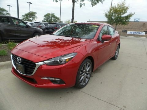Soul Red Metallic 2018 Mazda MAZDA3 Grand Touring 4 Door