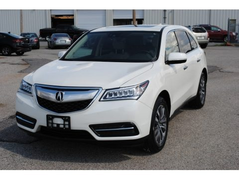 White Diamond Pearl 2016 Acura MDX SH-AWD Technology