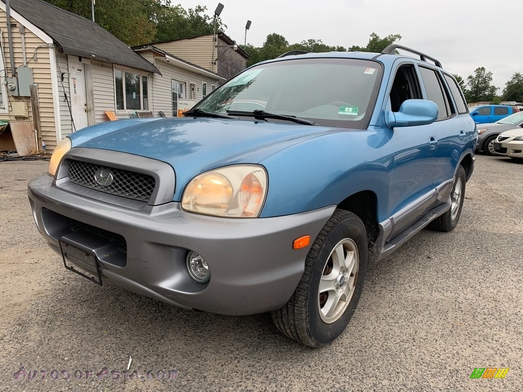 2003 Santa Fe GLS - Crystal Blue / Gray photo #1