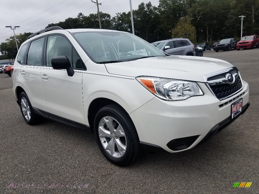 2016 Forester 2.5i - Crystal White Pearl / Gray photo #1