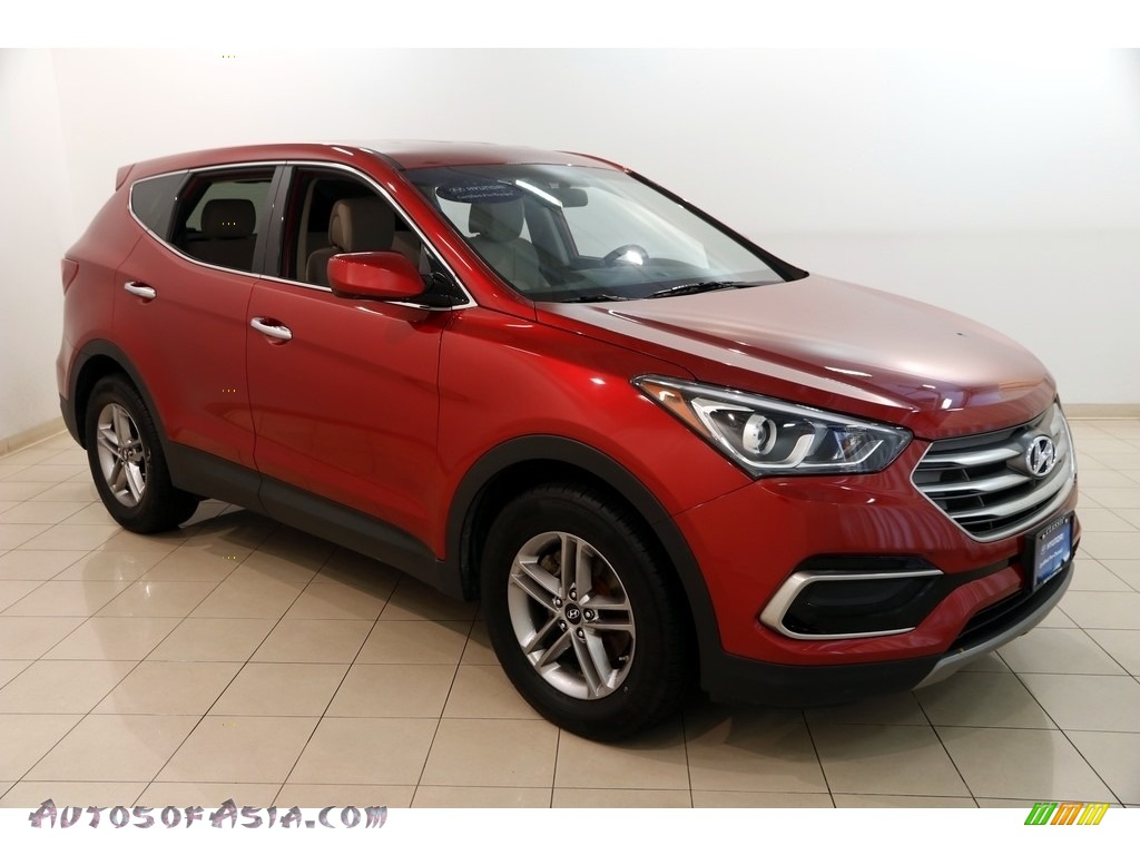 2017 Santa Fe Sport AWD - Serrano Red / Beige photo #1