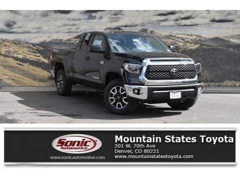 Midnight Black Metallic 2019 Toyota Tundra SR5 Double Cab 4x4