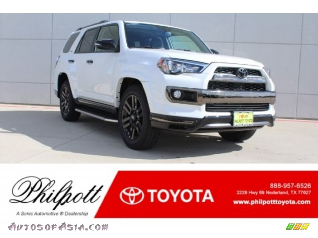 2019 4Runner Nightshade Edition 4x4 - Blizzard White Pearl / Graphite photo #1