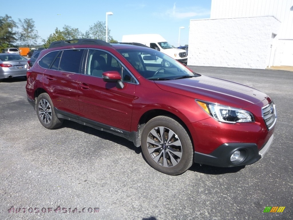 Venetian Red Pearl / Warm Ivory Subaru Outback 2.5i Limited