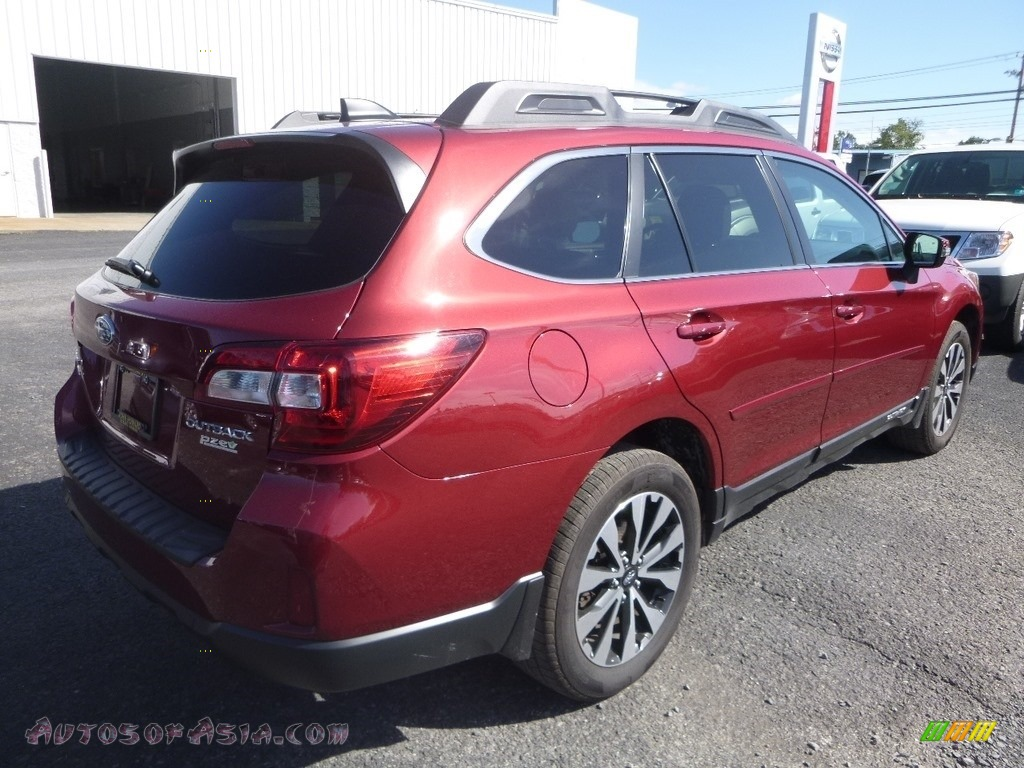 2016 Outback 2.5i Limited - Venetian Red Pearl / Warm Ivory photo #4