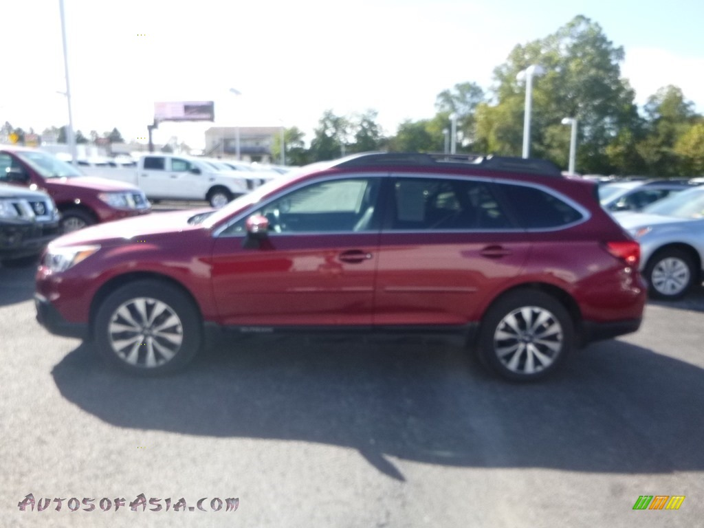 2016 Outback 2.5i Limited - Venetian Red Pearl / Warm Ivory photo #7