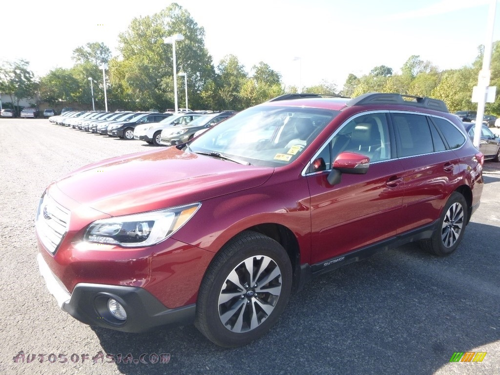 2016 Outback 2.5i Limited - Venetian Red Pearl / Warm Ivory photo #8