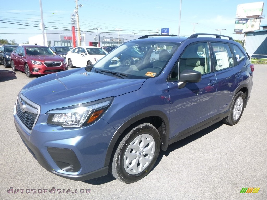 2019 Forester 2.5i - Horizon Blue Pearl / Gray photo #8