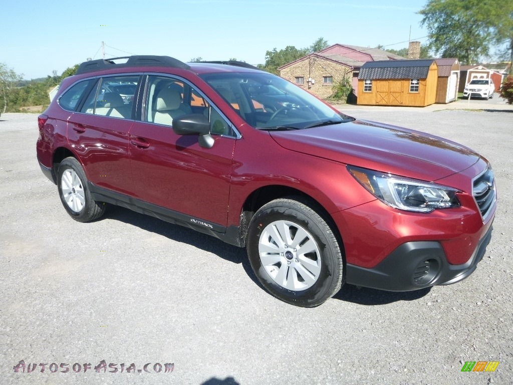 Crimson Red Pearl / Warm Ivory Subaru Outback 2.5i