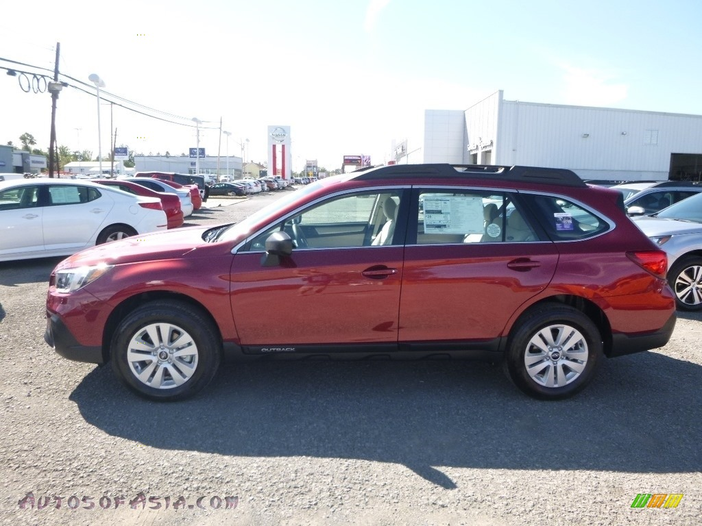 2019 Outback 2.5i - Crimson Red Pearl / Warm Ivory photo #7