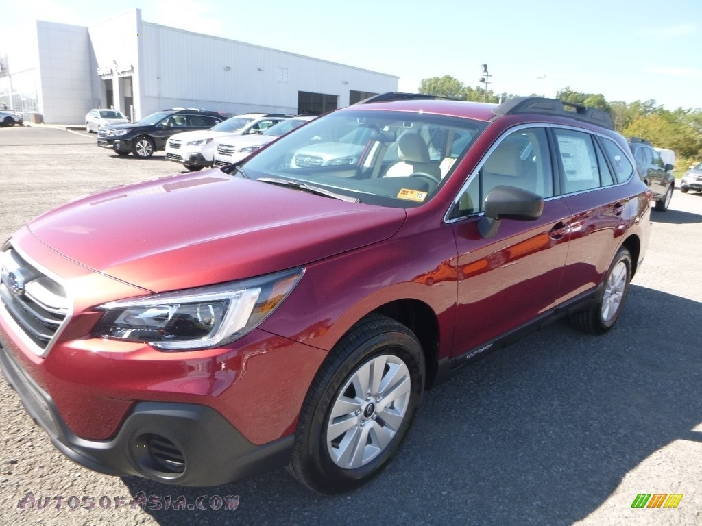 2019 Outback 2.5i - Crimson Red Pearl / Warm Ivory photo #8
