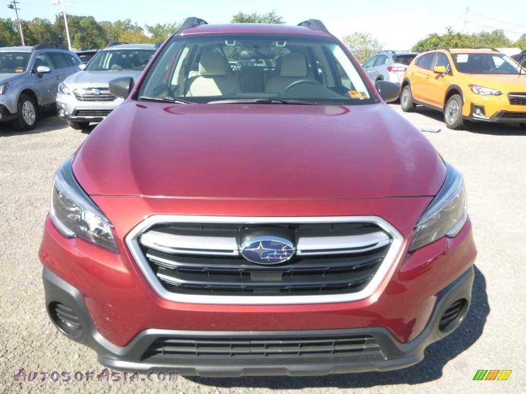 2019 Outback 2.5i - Crimson Red Pearl / Warm Ivory photo #9