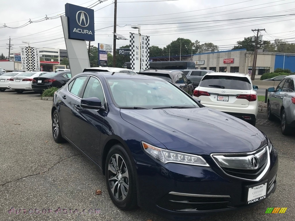 2015 TLX 2.4 - Fathom Blue Pearl / Graystone photo #1