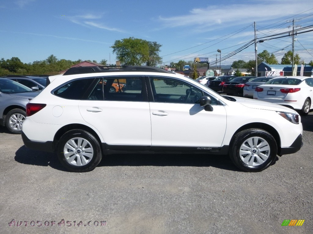 2019 Outback 2.5i - Crystal White Pearl / Slate Black photo #3