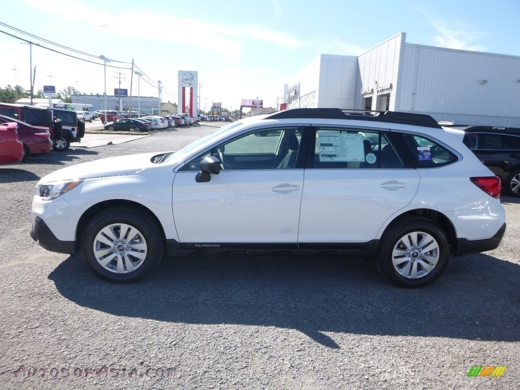 2019 Outback 2.5i - Crystal White Pearl / Slate Black photo #7