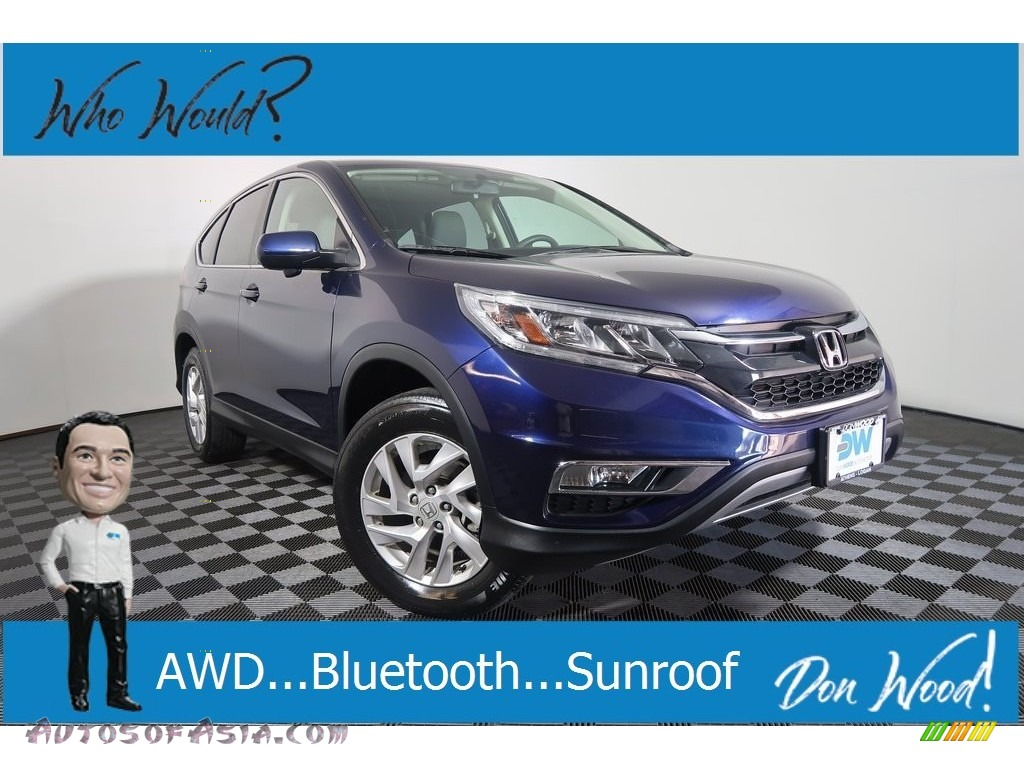 2016 CR-V EX AWD - Obsidian Blue Pearl / Black photo #1