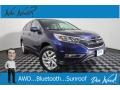 Honda CR-V EX AWD Obsidian Blue Pearl photo #1