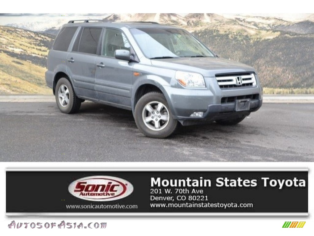 2008 Pilot EX-L 4WD - Nimbus Gray Metallic / Gray photo #1