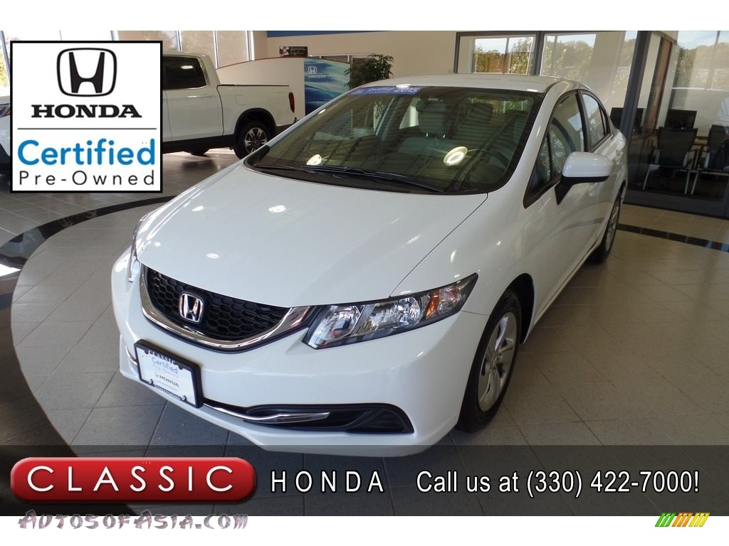 Taffeta White / Beige Honda Civic LX Sedan