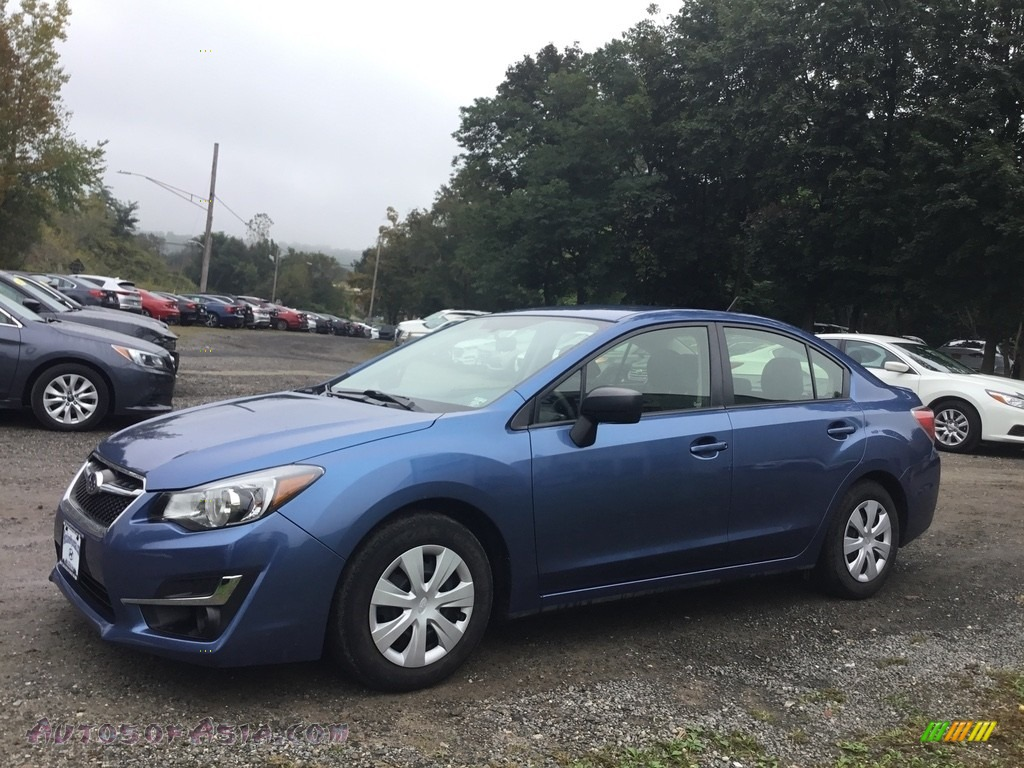 2016 Impreza 2.0i 4-door - Quartz Blue Pearl / Black photo #7