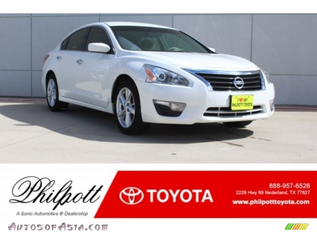 2013 Altima 2.5 SV - Pearl White / Beige photo #1