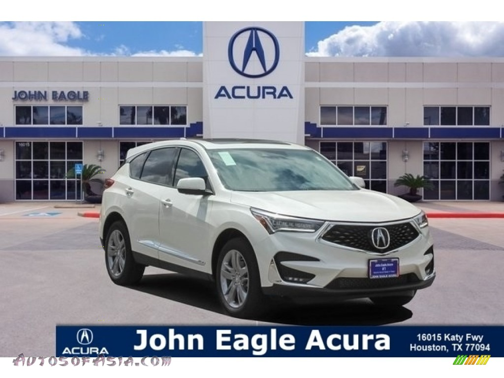 White Diamond Pearl / Parchment Acura RDX Advance
