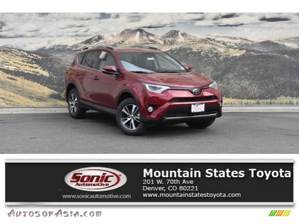 2018 RAV4 XLE AWD - Ruby Flare Pearl / Black photo #1