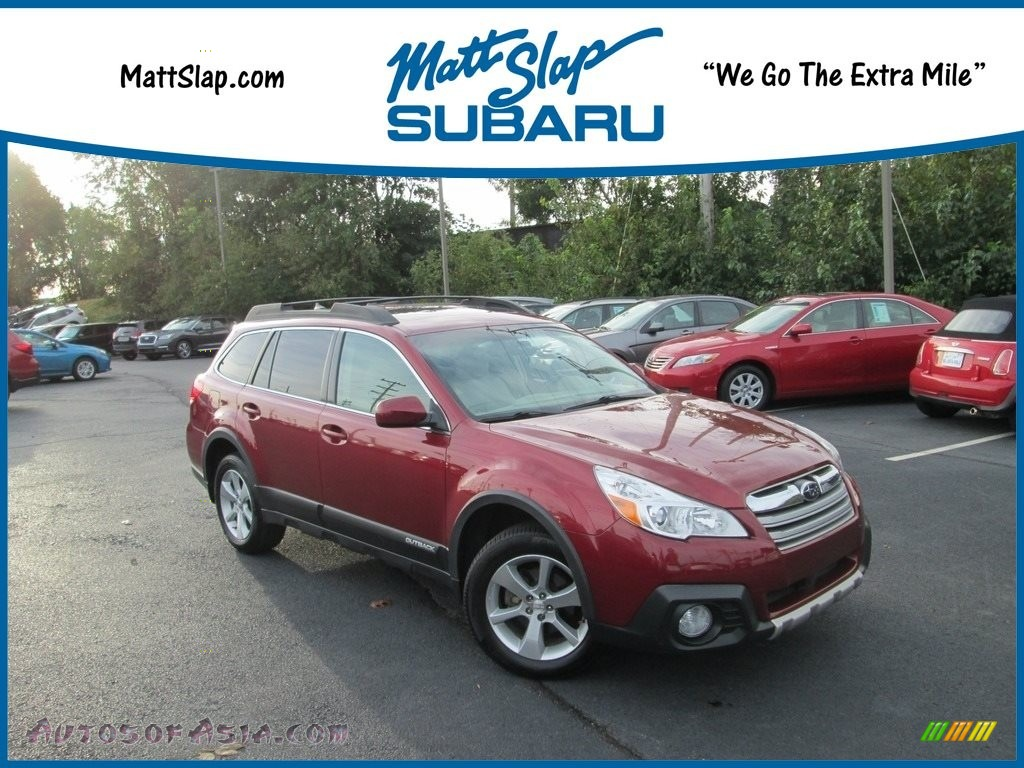2014 Outback 2.5i Limited - Venetian Red Pearl / Ivory photo #1