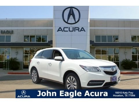 White Diamond Pearl 2015 Acura MDX Technology