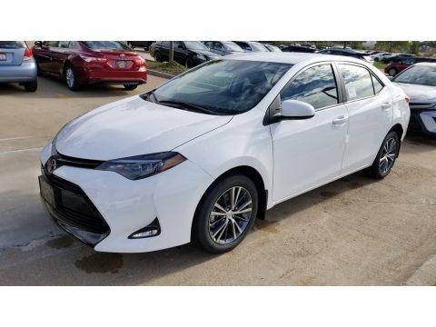 Super White 2019 Toyota Corolla LE