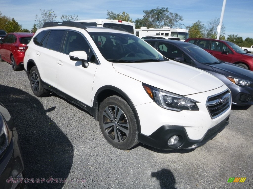2018 Outback 2.5i Limited - Crystal White Pearl / Titanium Gray photo #1