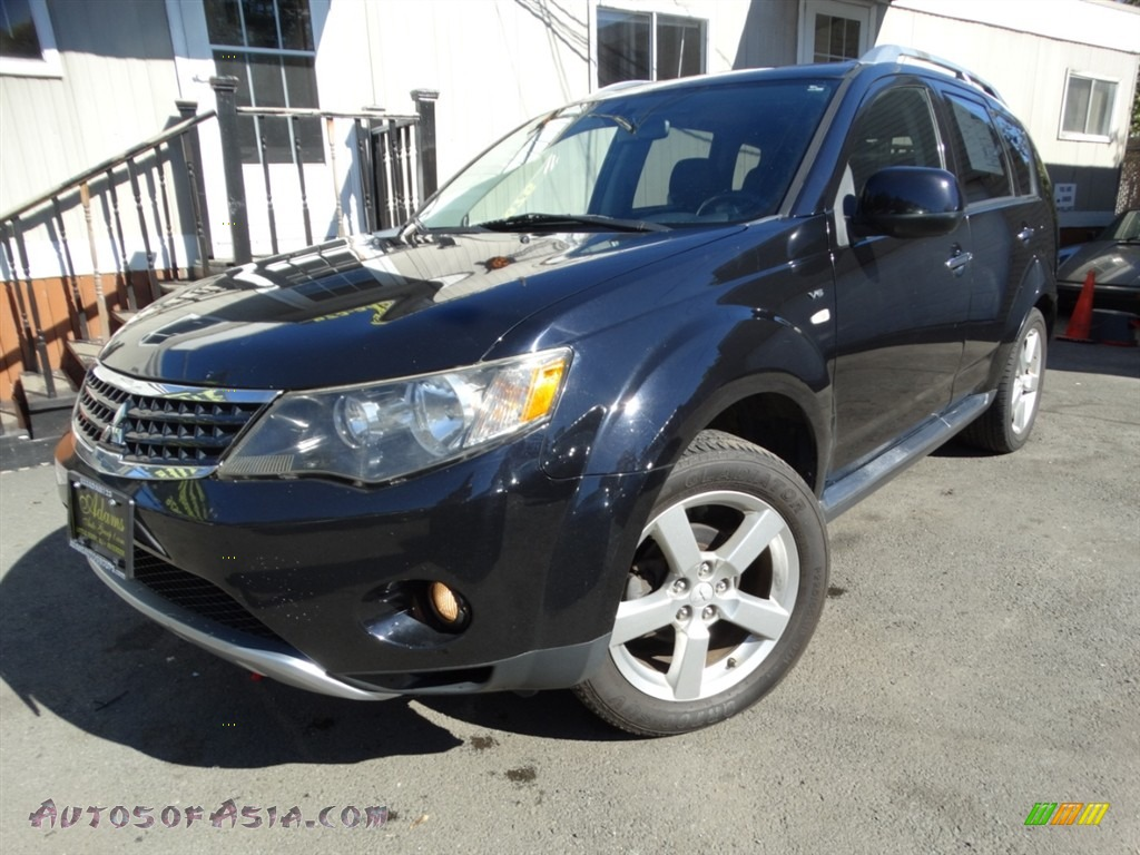 2009 Outlander XLS 4WD - Labrador Black Pearl / Black photo #1